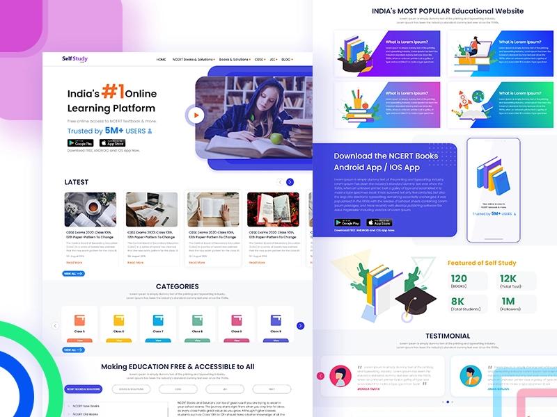 Self Study E Learning Website In 2020 Learning Website Design Learning Web Elearning Design