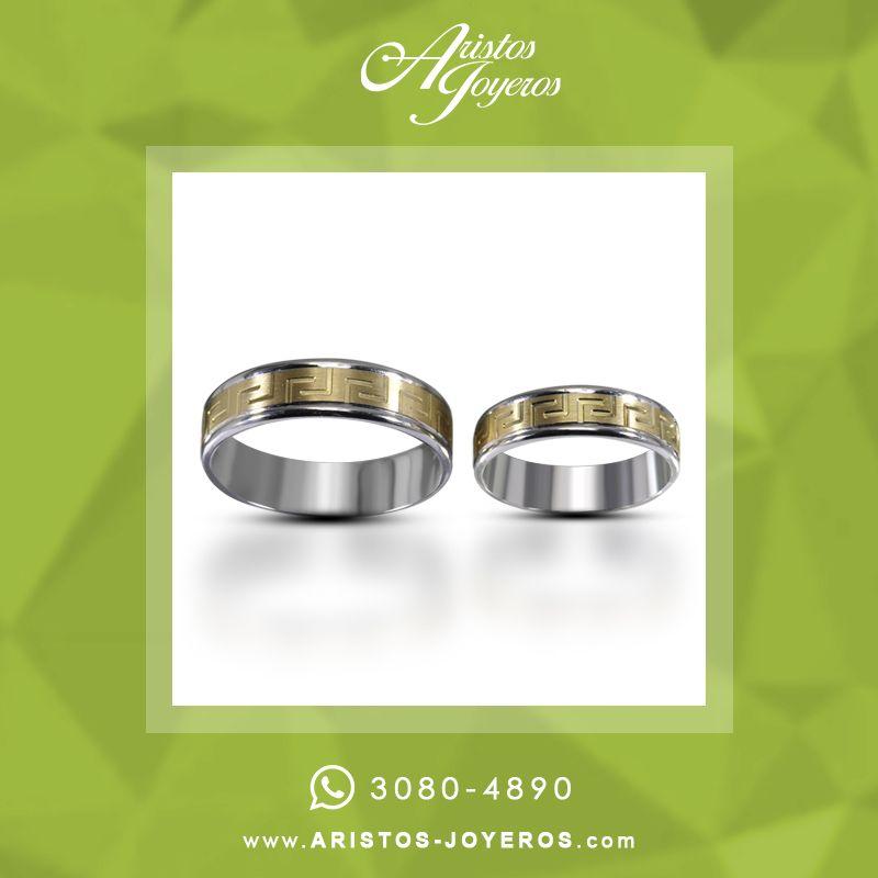 DiseñoyFabricacion #Oro #Elegancia Argollas en dos oros con diseño ...