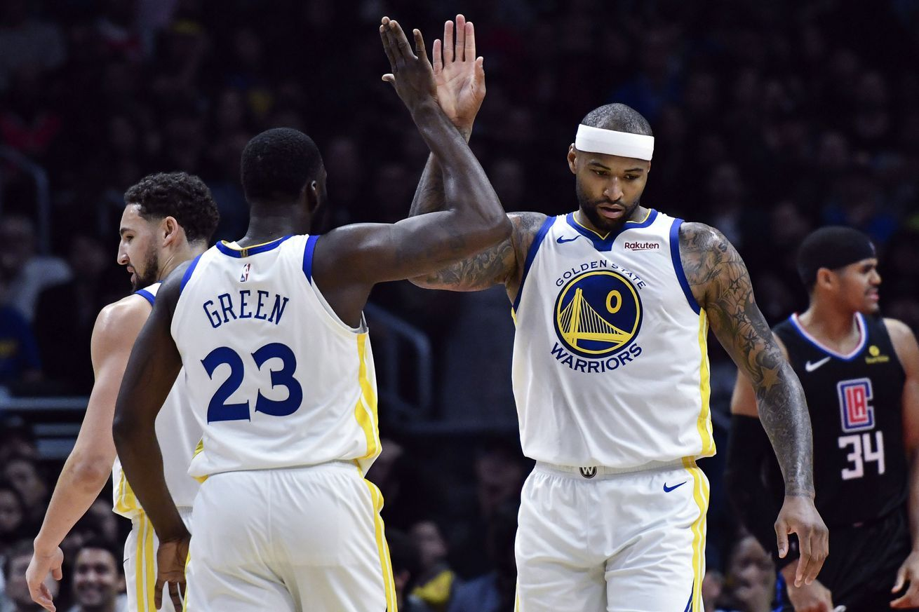Demarcus Cousins Warriors Debut Reminded The Other 29 Nba Teams Why Theyre Doomed All Sports Games And Sports Hd Streami Team Blackout Sports Green Warriors