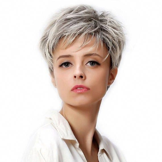 Short Wigs For White Women, Fashion Wig For Mother