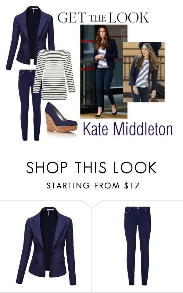 """Kate middleton"" by ptitcupcakes ❤ liked on Polyvore featuring Stuart Weitzman, True Religion, Lands' End, GetTheLook, contest and celebstyle"
