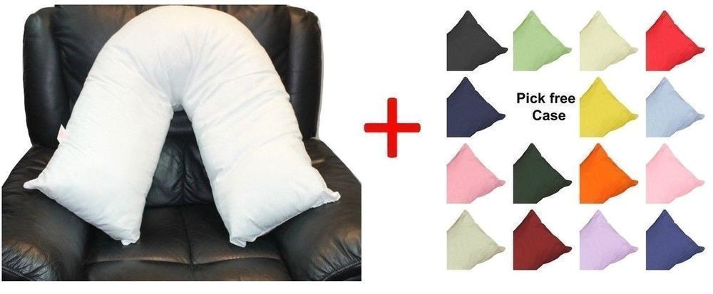 V Shaped Pregnancy Maternity Nursing Baby Neck Orthopedic Support Pillow Covers