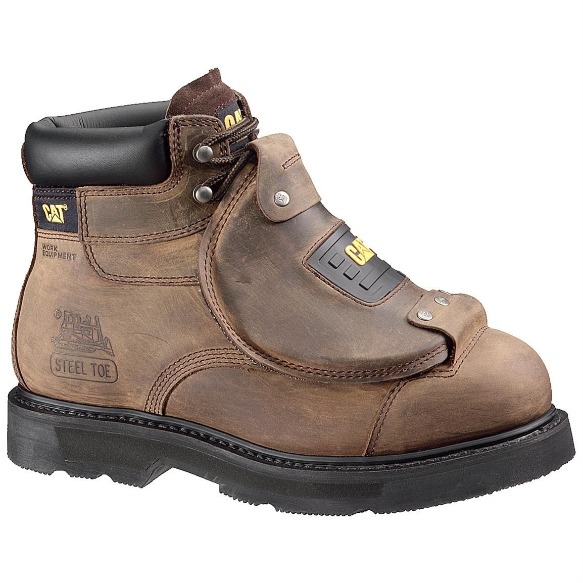 Men's CAT® 6 inch Assault Steel Toe Work Boots, Brown | Steel toe ...