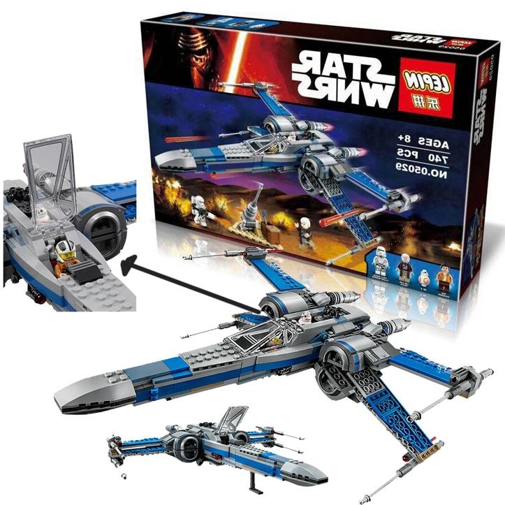 33.73$  Buy here - http://alimor.worldwells.pw/go.php?t=32711100974 - Lepin Resistance X-Wing Fighter Force awakening Star Wars Warships spaceship Building Blocks Bricks Starwars Toys 33.73$