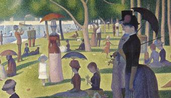 Pós-impressionismo: A Sunday Afternoon on the Island of La Grande Jatte, de Georges Seurat