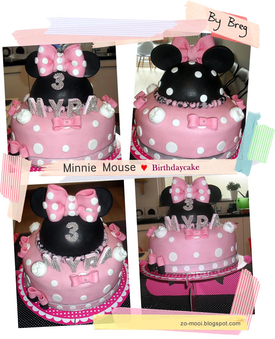 Minnie Mouse Birthdaycake on http://www.zo-mooi.blogspot.com