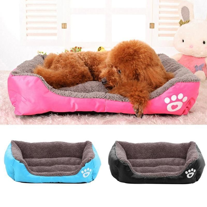 Large Square Pet Dog Bed Puppy Cat Cushion House Soft Fleece Warm