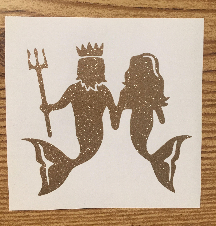 Mermaid Couple Vinyl Decal Sticker Car Decal Laptop Sticker Water Bottle Sticker Car Accessory Gift Idea Merm Vinyl Decals Family Stickers Custom Decals [ 3000 x 2863 Pixel ]