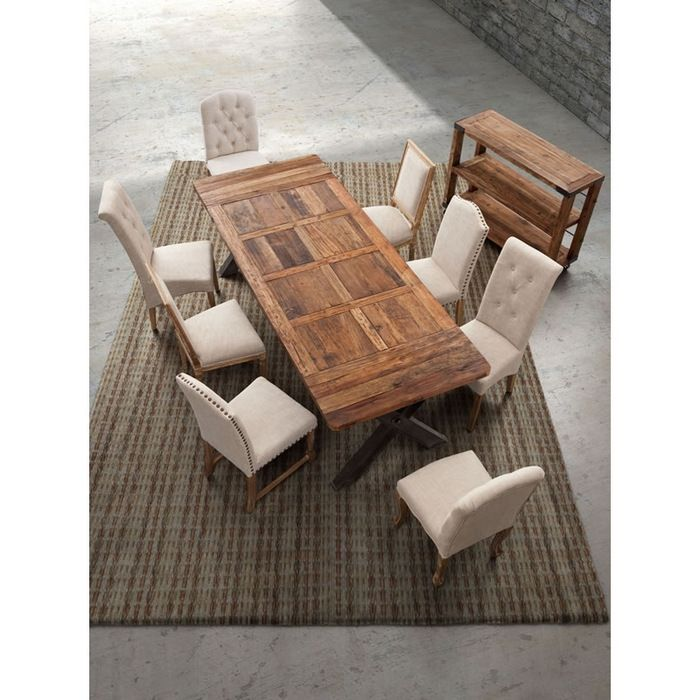 Zuo Modern Haight Ashbury Table Fabric Dining Chairs Dining