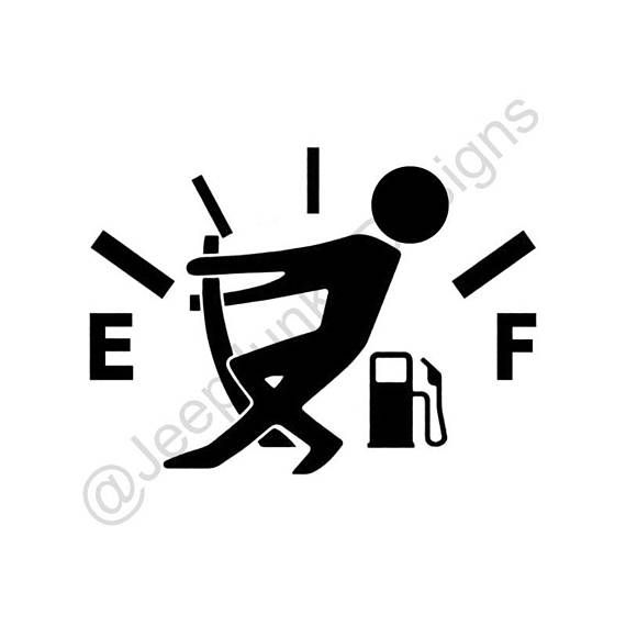 Gas gauge stick figure vinyl decal approximately inches oracal 631 vinyl lasts up to 3 years durable through all weather including mud