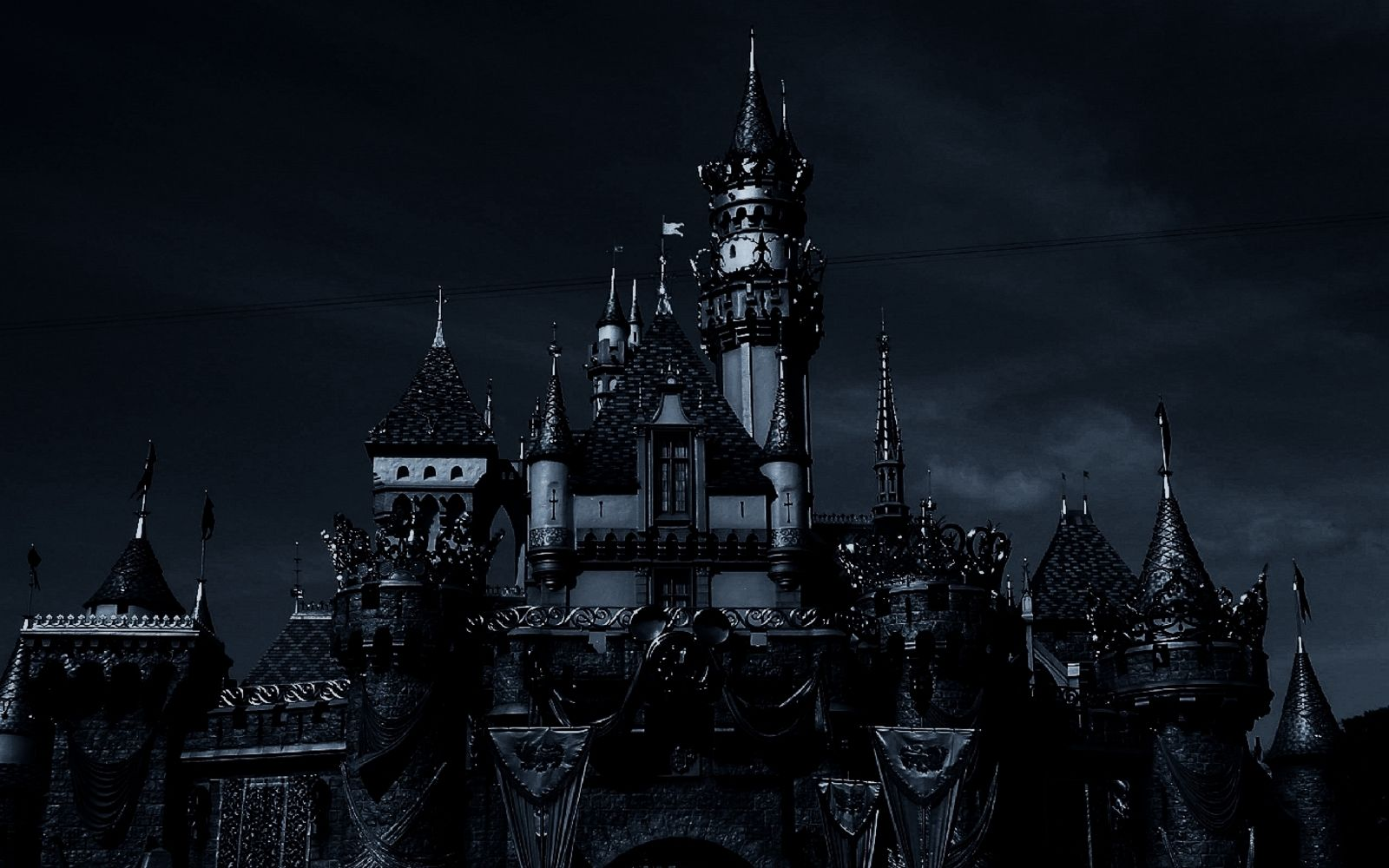 Dark Castle On The Coast Wallpaper Fantasy Wallpapers