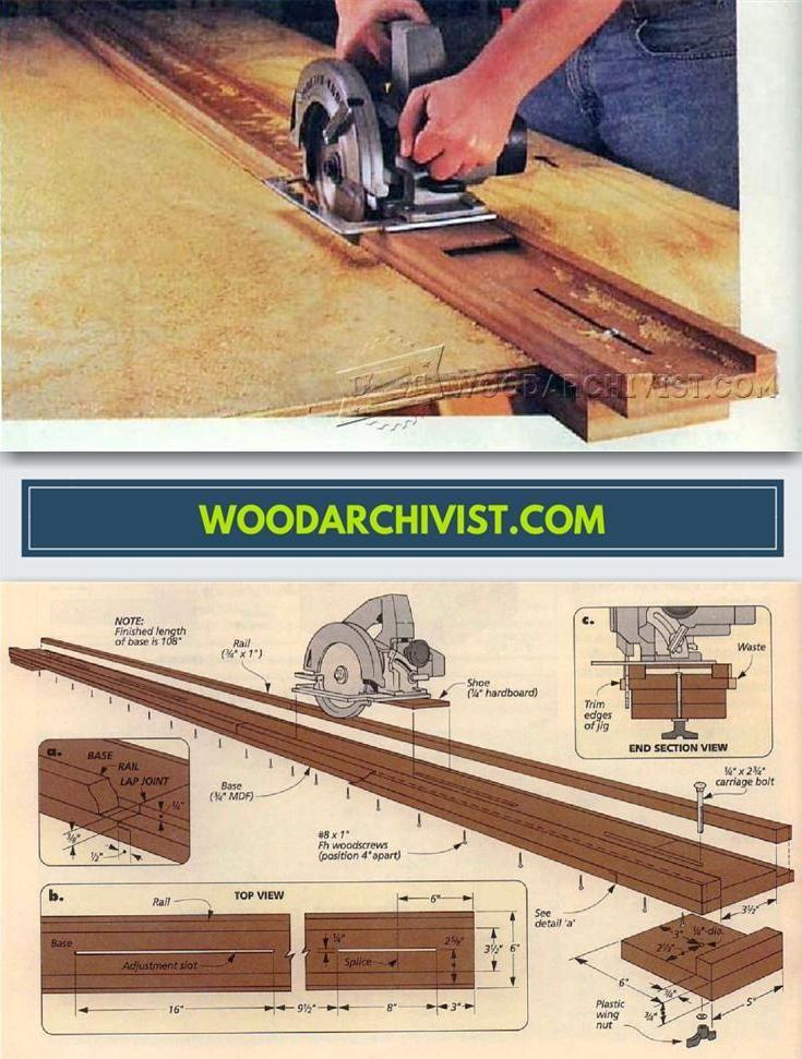 Diy Circular Saw Guide Circular Saw Tips Jigs And Fixtures Woodarchivist Com Circular Saw Learn Woodworking Woodworking