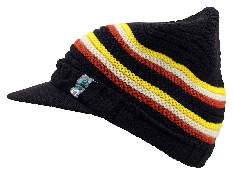 Men S Women S Visor Beanie Cap Warm Winter Hat Knitted Bill Soft Fuzzy Brown C612ch163kr Warm Winter Hats Knitted Hats Winter Hats