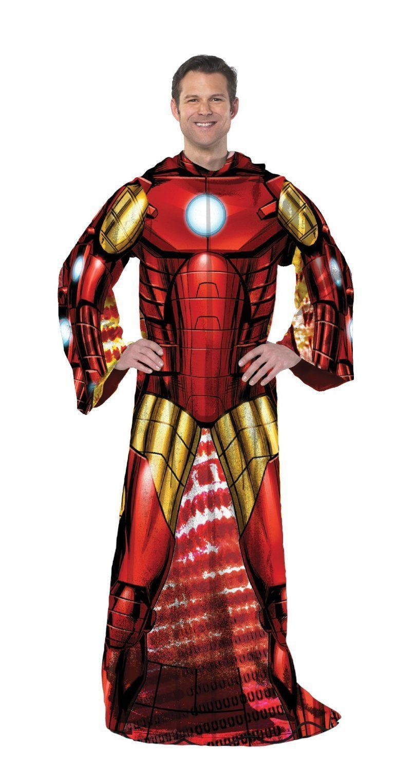 Marvel Avengers Iron Man Full Body Comfy Snuggie Blanket Products