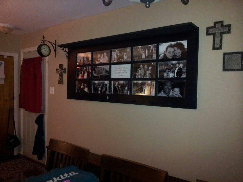 Old French Door Turned Picture Frame Coat Rack Shelf Hang