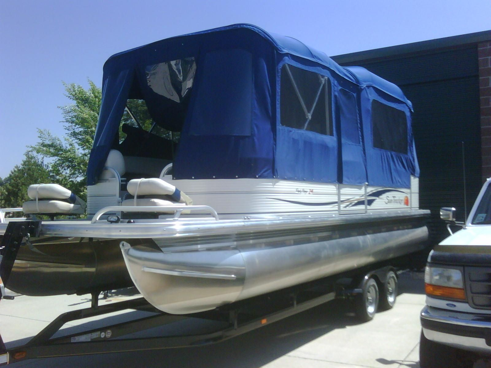 Pontoon boat deck boat forum view topic camping for Fish camping boat