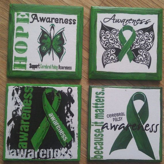 Cerebral Palsy Awareness Coasters by Play4All on Etsy, $1500 CP - ma cerebral palsy