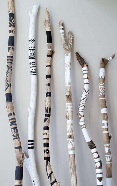 Wie cool sind diese Boho-Sticks von HobbyHandig 200?   – BASTELN – #Basteln #Boh…