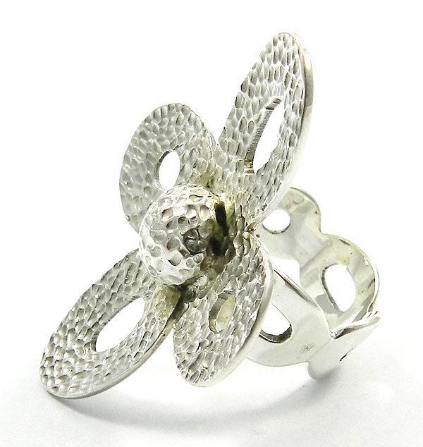 new fashion hot sale flower design 925 silver hammered sweet ring size8 jewelry #magicalcollection #sterlingsilver #silver #rings