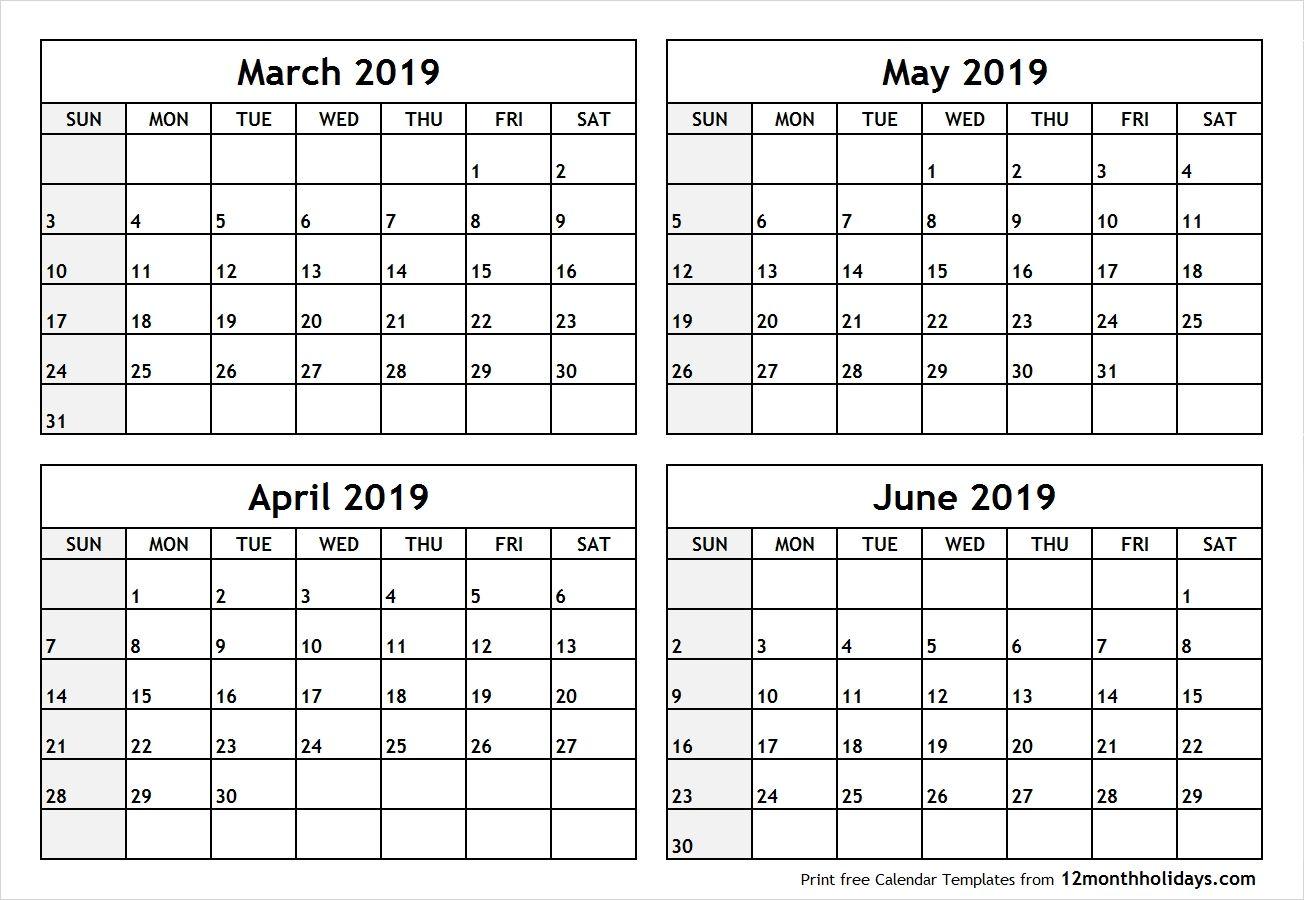 4 Months Calendar March To June 2019 Calendar October 2018 Calendar Catch July Calendar September Calendar August Calendar