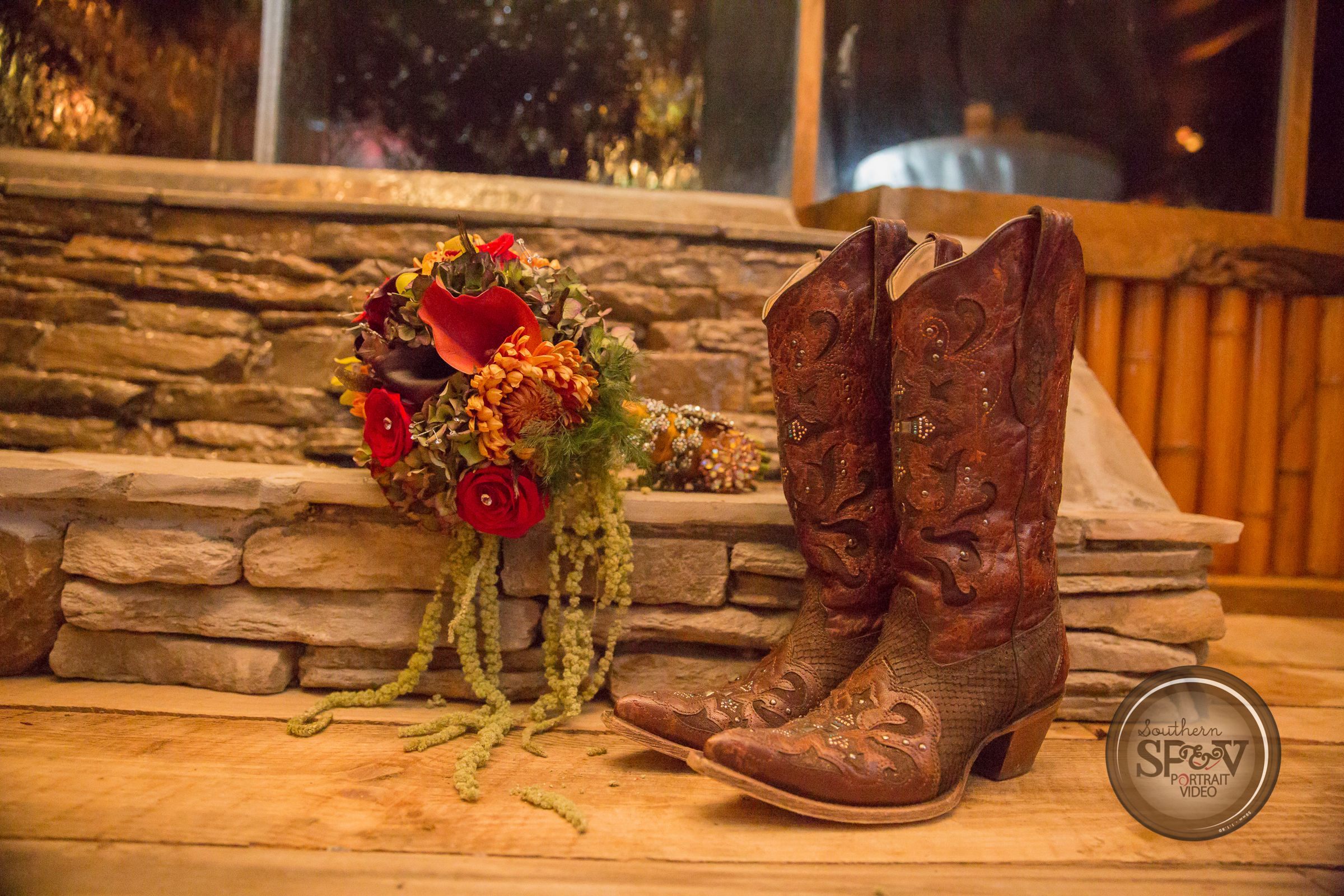 Corral boots Flowers by Mandy McGowen White