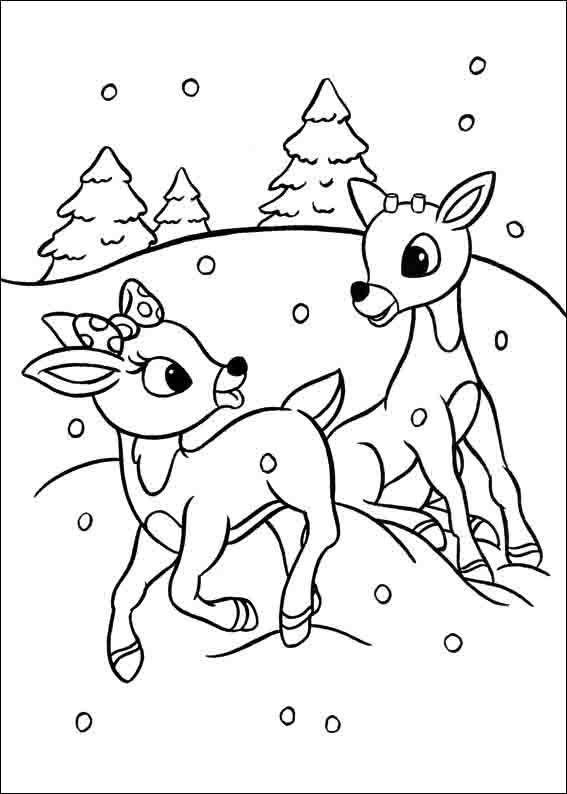 Rudolph Mit Der Roten Nase Ausmalbilder 4 Malvorlagen Pinterest