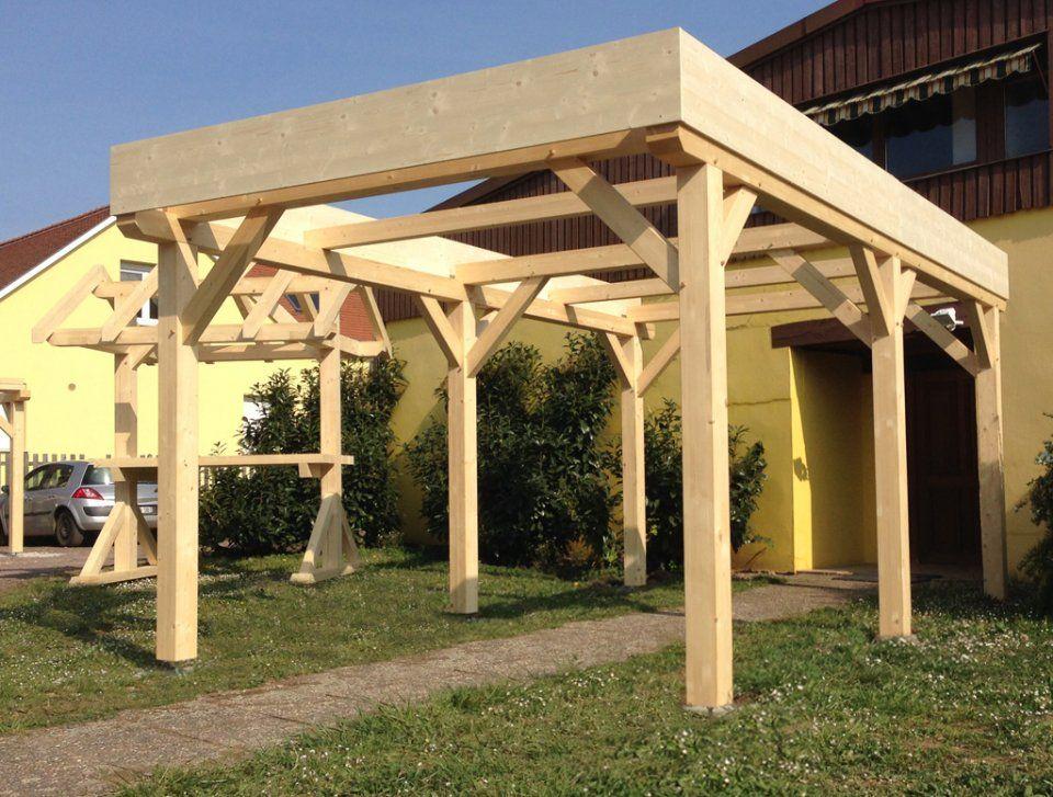 abri carport toit plat 1 voiture abri en bois outdoor. Black Bedroom Furniture Sets. Home Design Ideas