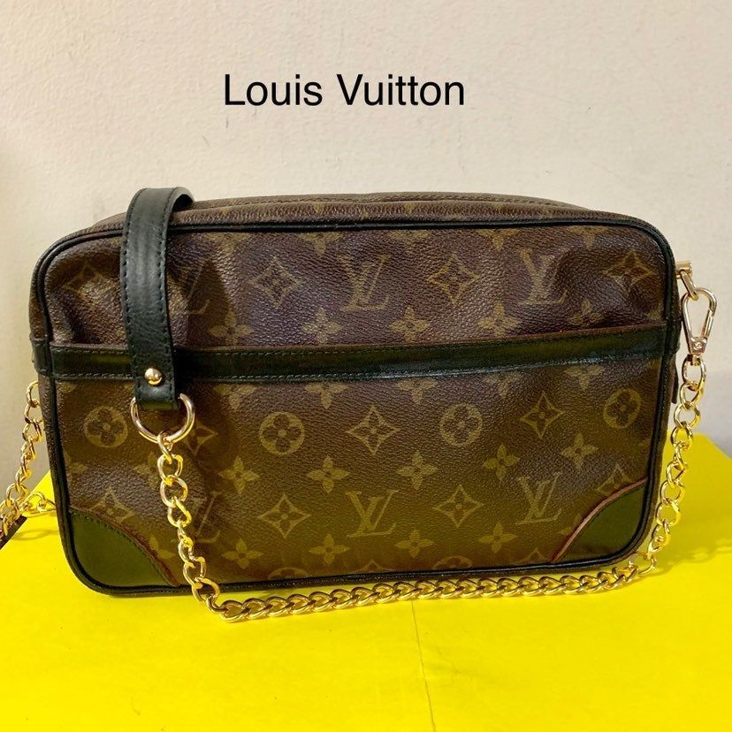 This Is Authentic Preloved Louis Vuitton Clutch Converted To