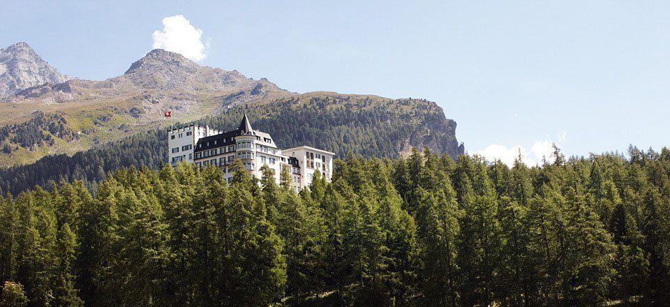 Waldhaus, St. Moritz, Aussenansicht Sommer