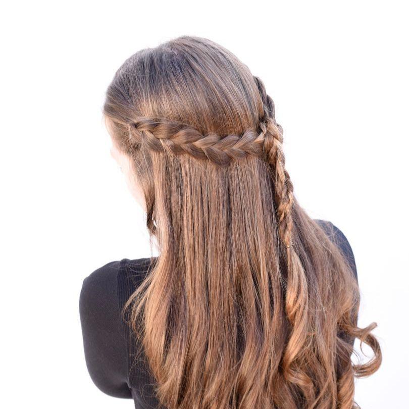 Braided Half Up Half Down Tutorial Easy Looks Great Braided Half Up Half Down Hair Half Up Half Down Hair Tutorial Braid Half Up Half Down