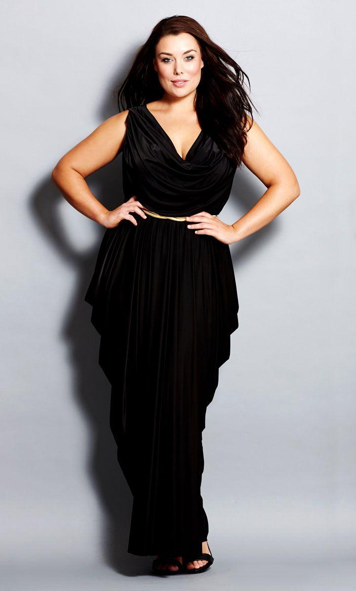 Athena black maxi dress