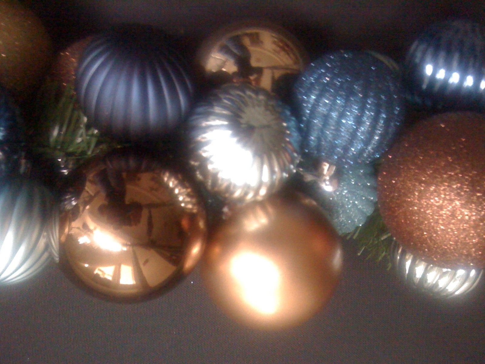 Blues,browns and gold wreath