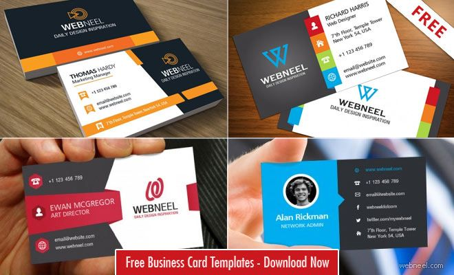 10 Professional Free Business Card Templates with source files - psd brochure design inspiration