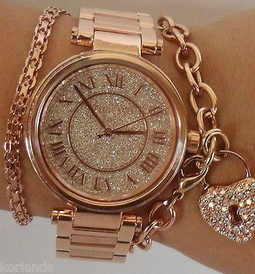 New Michael Kors Skylar Rose Gold Pave Swarovski Dial Women S Watch Mk5868 In Michael Kors Uhr Damenuhren Schone Uhren