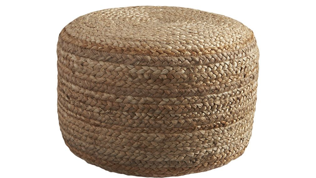 Braided Jute Pouf Living Rooms Room And Ottomans Unique Braided Hemp Jute Pouf