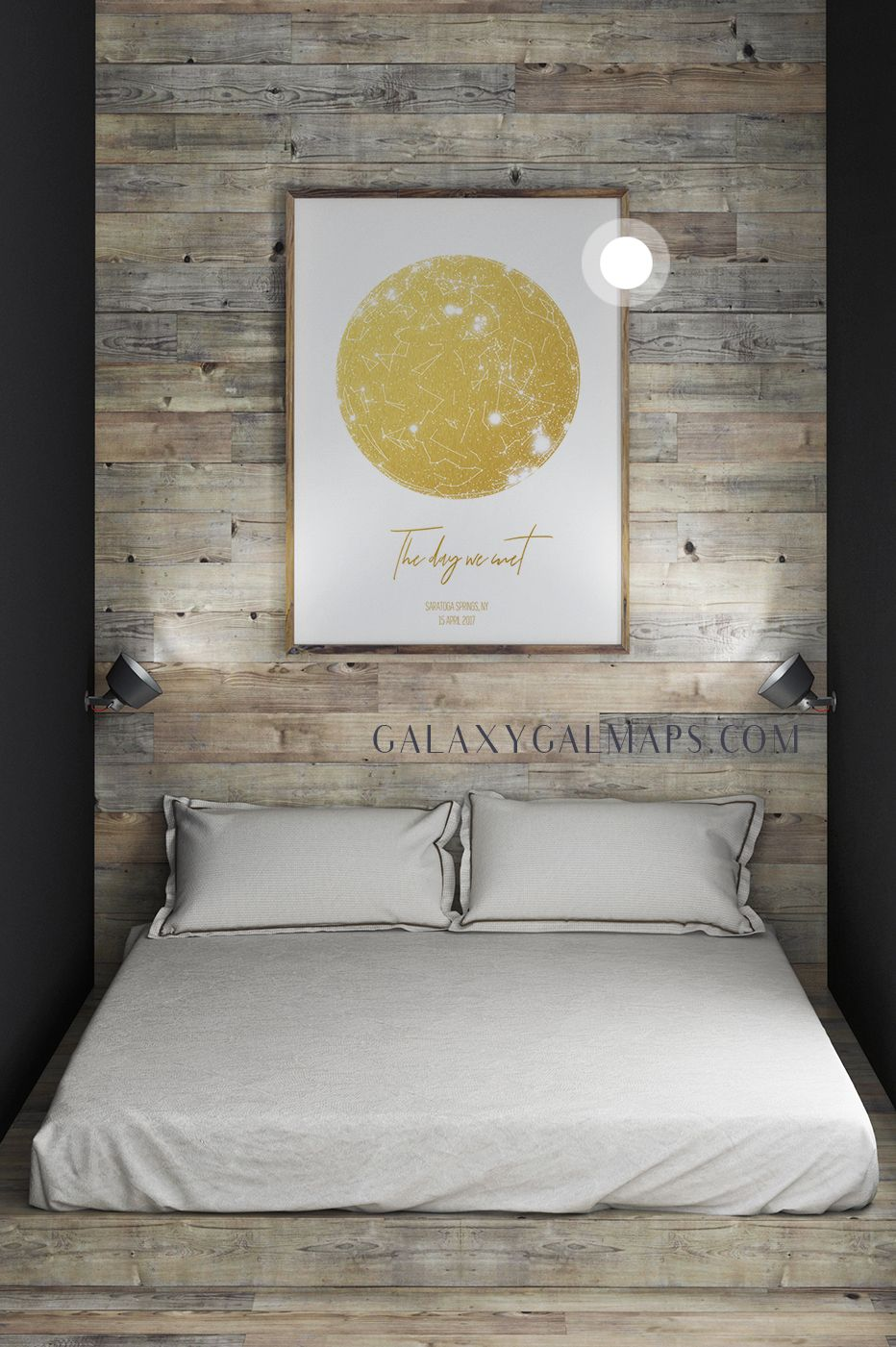 Personal Star Map By Date And Location 13th Anniversary Gift For