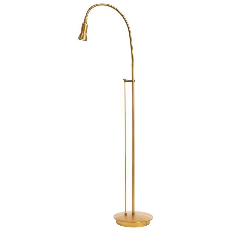 Vintage Brass Lamps With Glass Shade Gooseneck Floor Lamp Floor