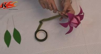 Jk arts how to make paper flower flower flower jk arts how to make paper flowers video mightylinksfo
