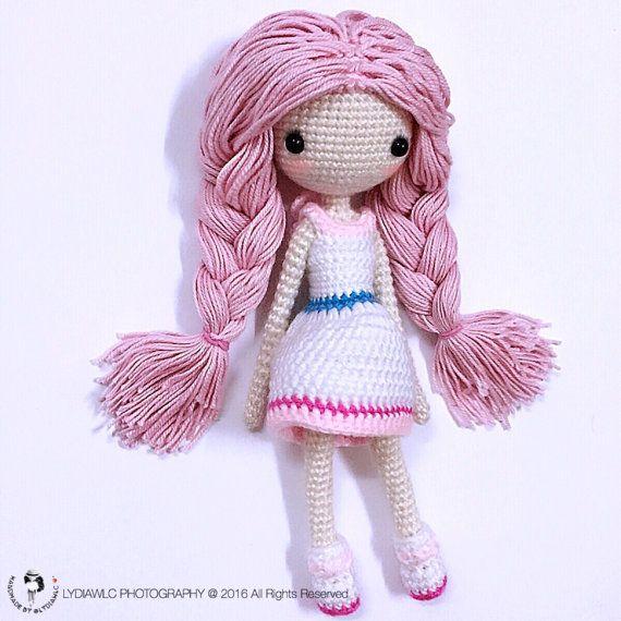 Crochet patrones de muñeca sirena-Ava艾娃. Una muñeca por LydiawlcMW ...