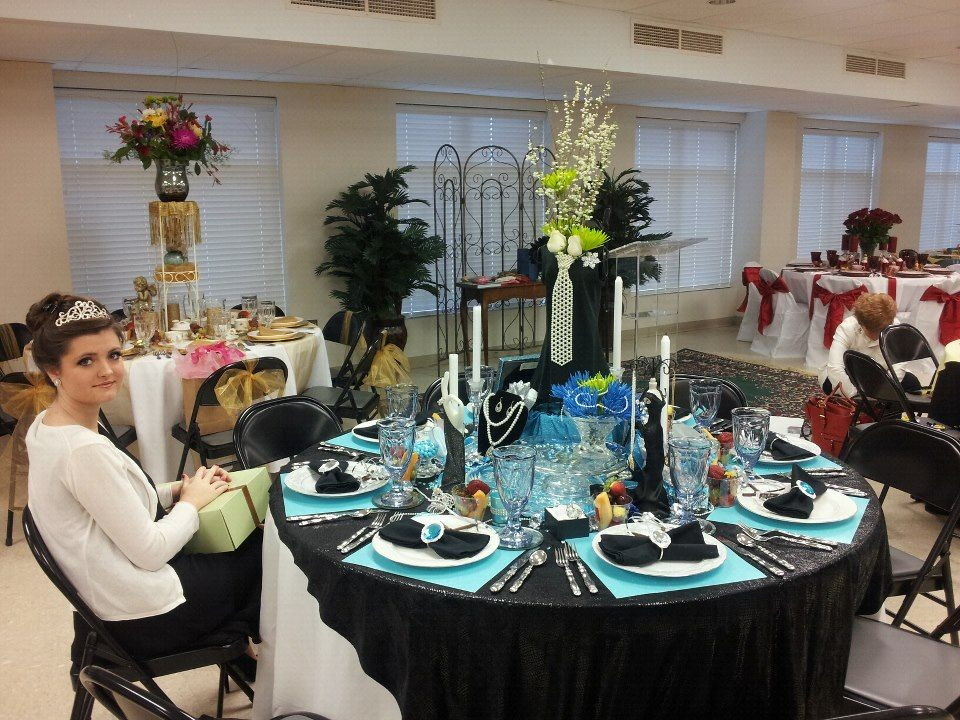 """Breakfast at Tiffany's"" table theme A Women's Ministry Event"