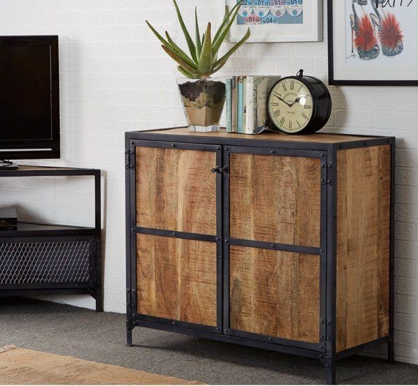 Details About Industrial Style Sideboard Indian Living Room