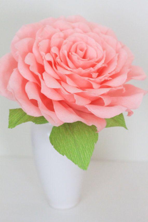Groe rose groe Papier Blumen fr Hochzeit von