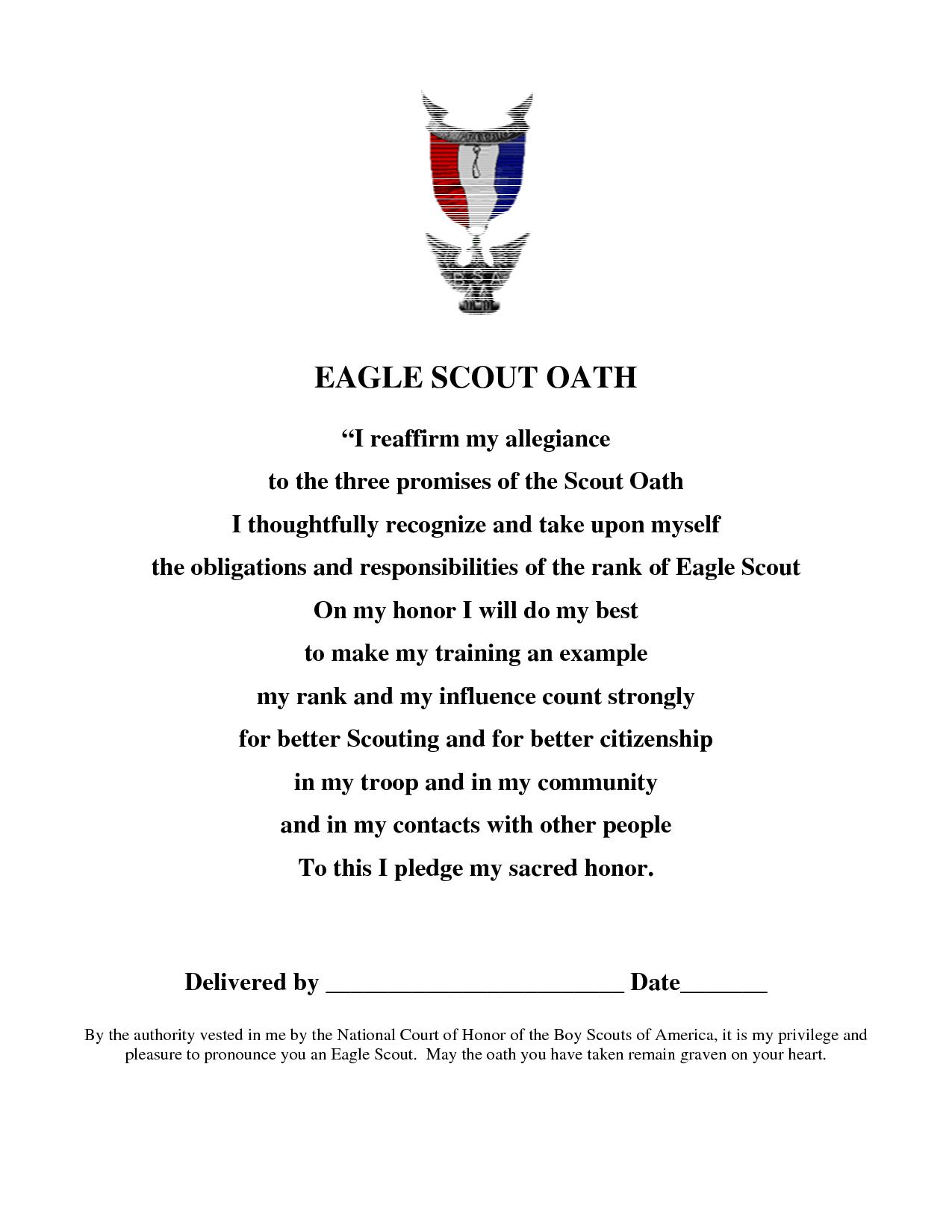 Eagle Scout Oath