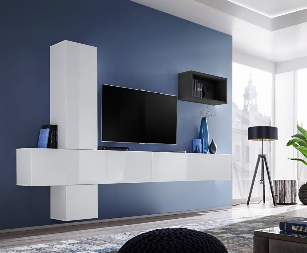 Design wohnwand straight  Details about Boise VI - modern tv wall unit / entertainment tv ...