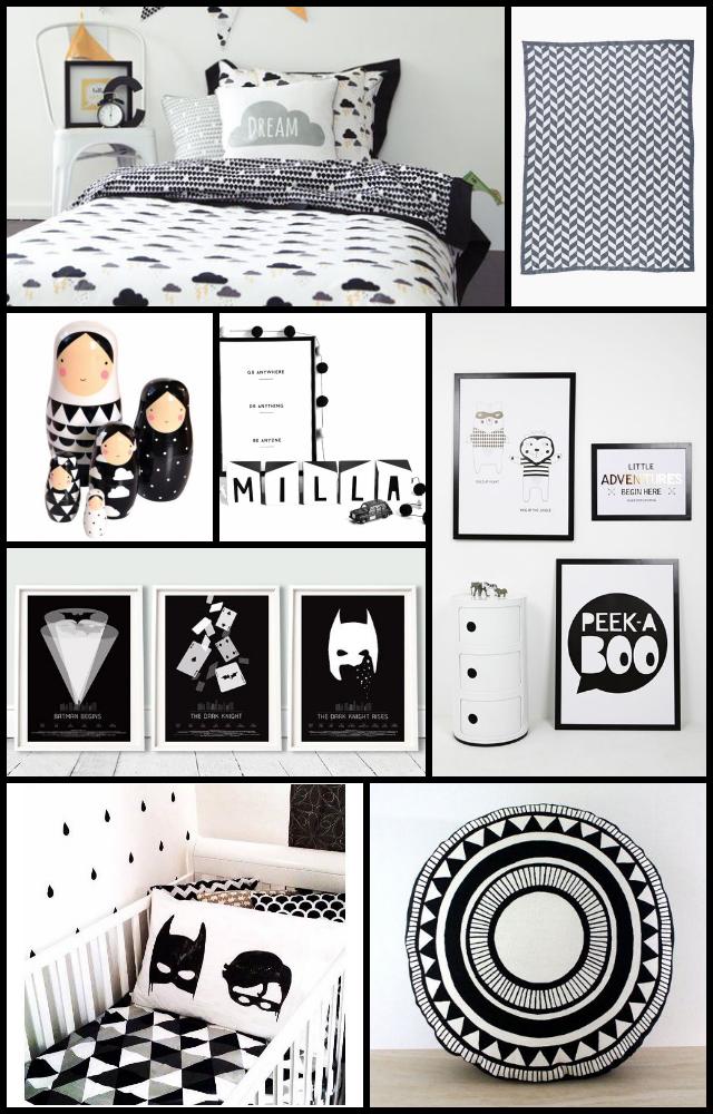 Monochrome Bedroom Kids Boy Rooms