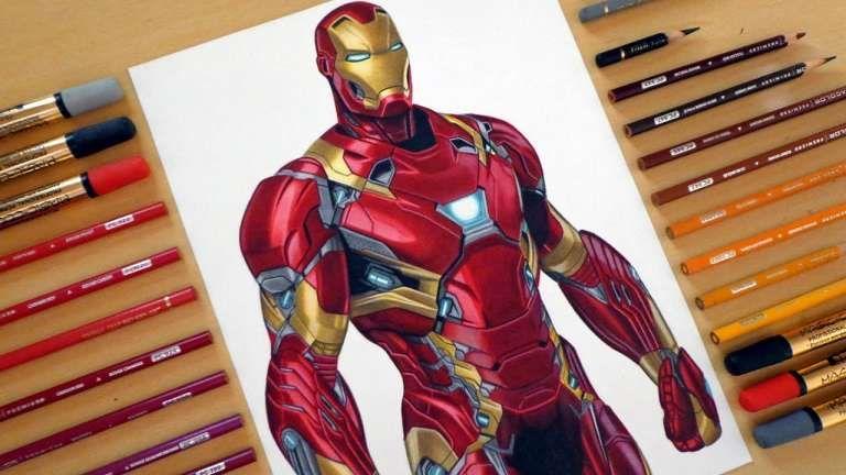 15 Drawings Of Iron Man Iron Man Drawing Iron Man Vs Captain America Iron Man