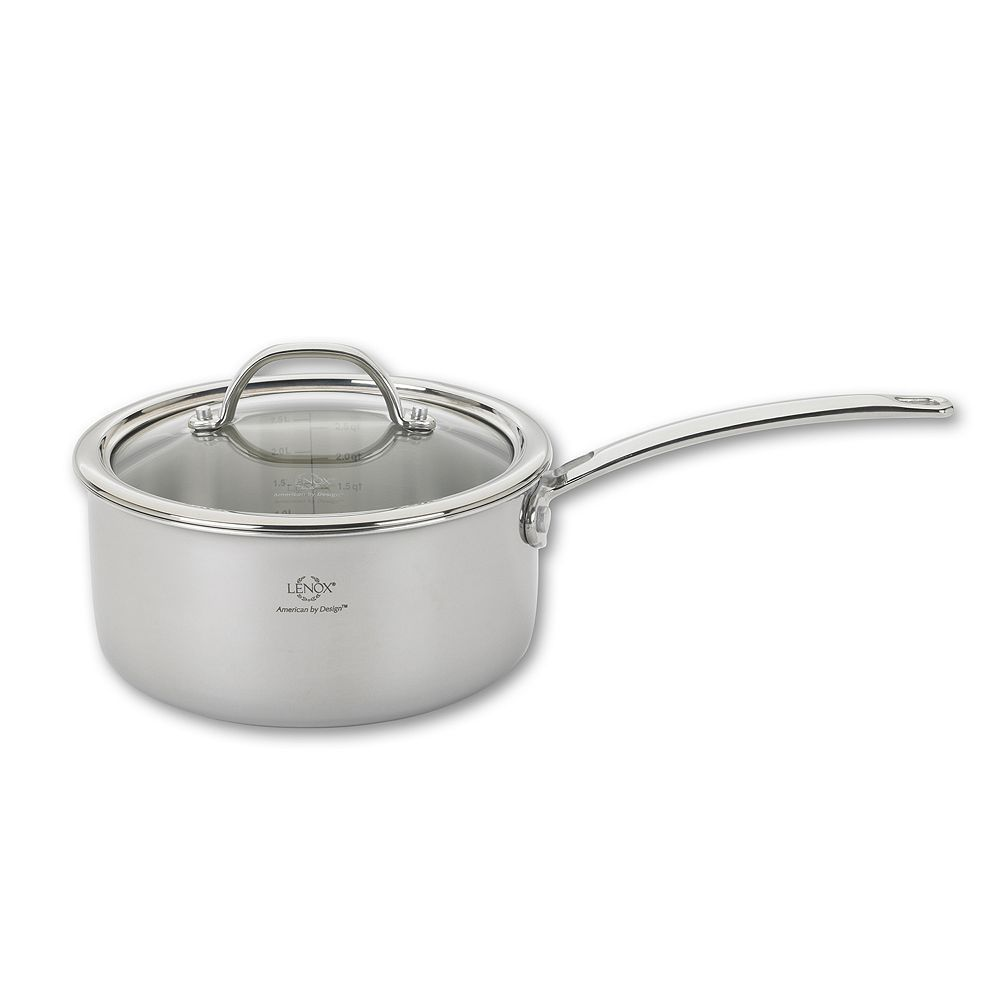Lenox Tri-Ply Clad 18/10 Stainless Steel 2-qt. Saucepan, Multicolor
