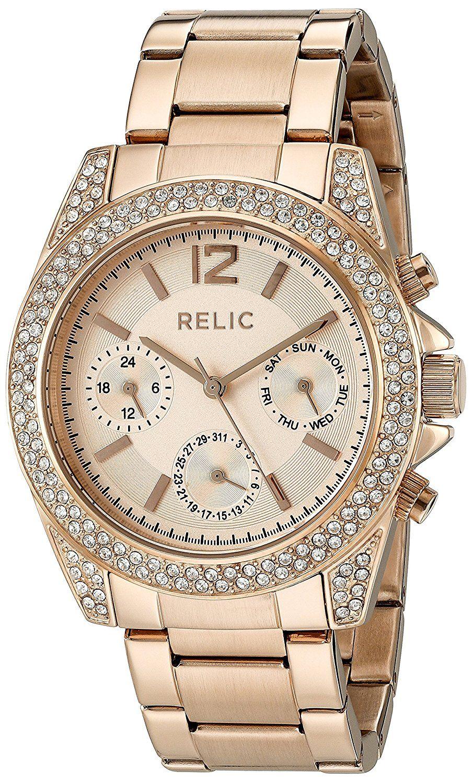 Relic womenus ujaneu quartz stainless steel casual watch model