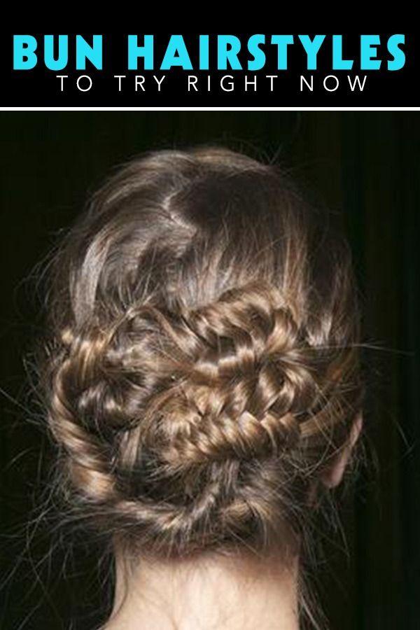 15 Bun Hairstyles to Copy Immediately   Braided Hairstyles ...