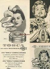 Werbung Anzeige Kl. Konvolut 5 x Tosca 4711 Kosmetik Kosmetika 1954-55